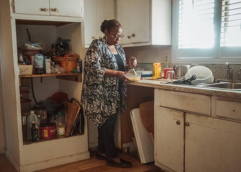 Nancy Whittle in her home in Fresno