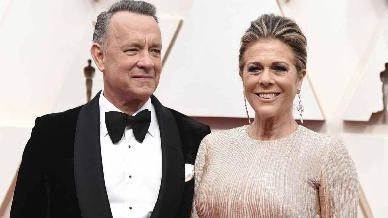 Tom Hanks and Rita Wilson at the Oscars in February. The couple, who are in Australia where Hanks is preparing for a film shoot, announced Thursday they have tested positive for the coronavirus.