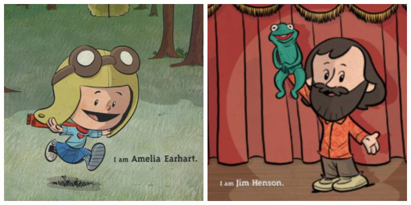 Moments from the 'I Am Amelia Earhart' and 'I Am Jim Henson' books.