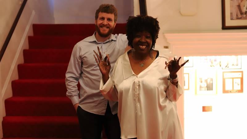 The Dynamic Miss Faye Carol and pianist Joe Warner.