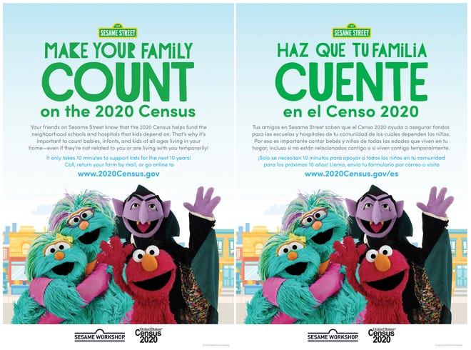 'Sesame Street' launches 2020 census starring the Count to remind families everyone counts