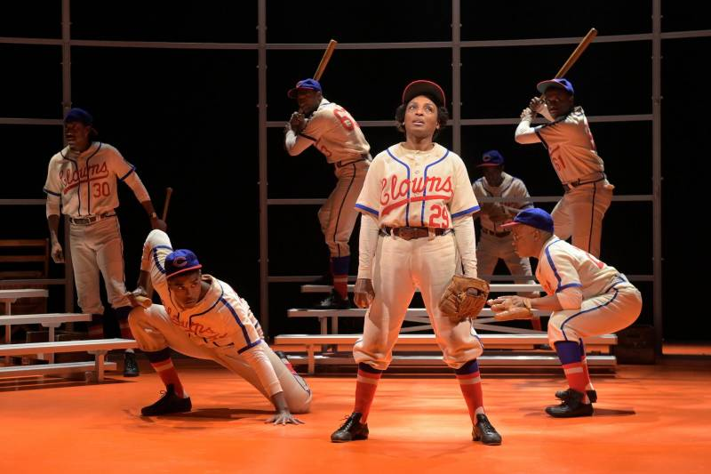 Dawn Ursula in 'Toni Stone,' a play at A.C.T.'s Geary Theater about the first woman to play professional baseball. The play closed the morning after opening night due to the coronavirus.