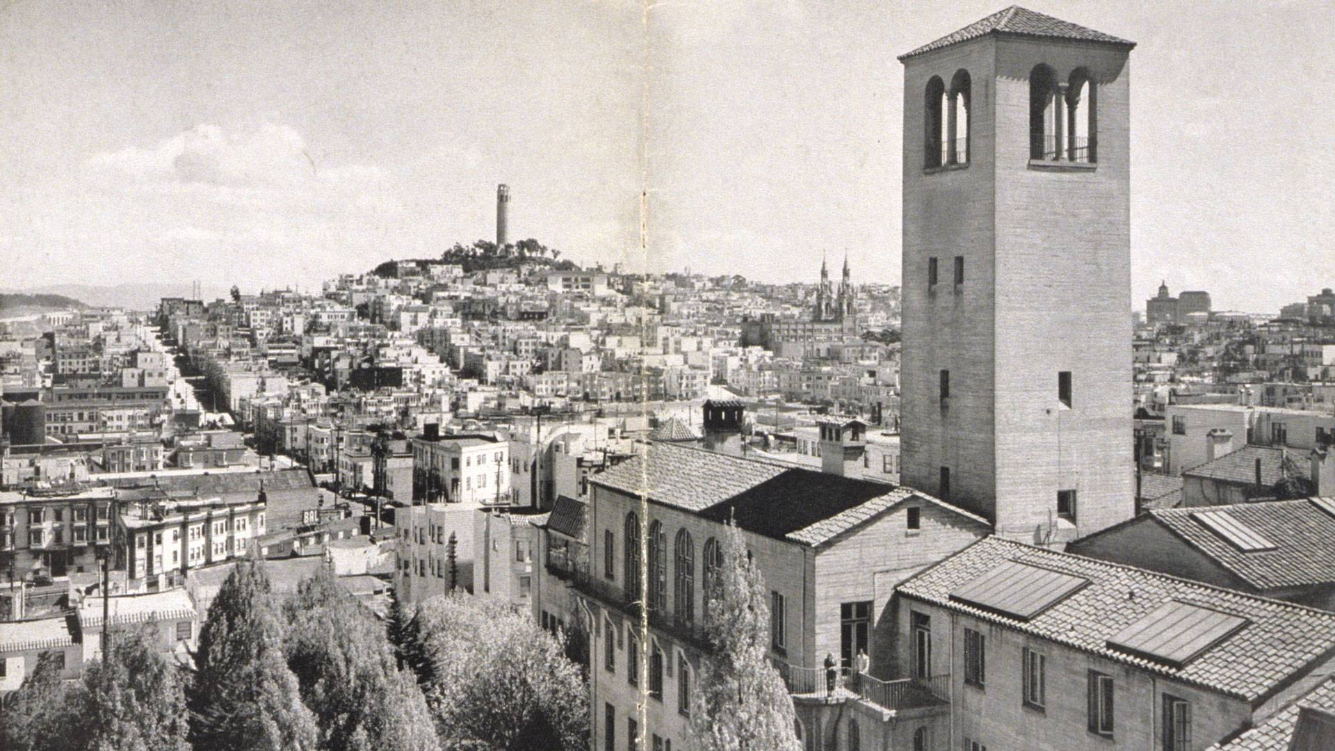 The view from SFAI's  Chestnut Street campus, photographed by Ansel Adams, c. 1939. Courtesy of SFAI