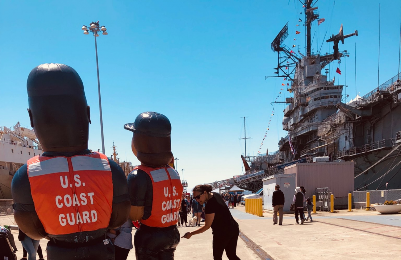 USS Hornet: Sunny tourist attraction by day, alleged ghost party by night!