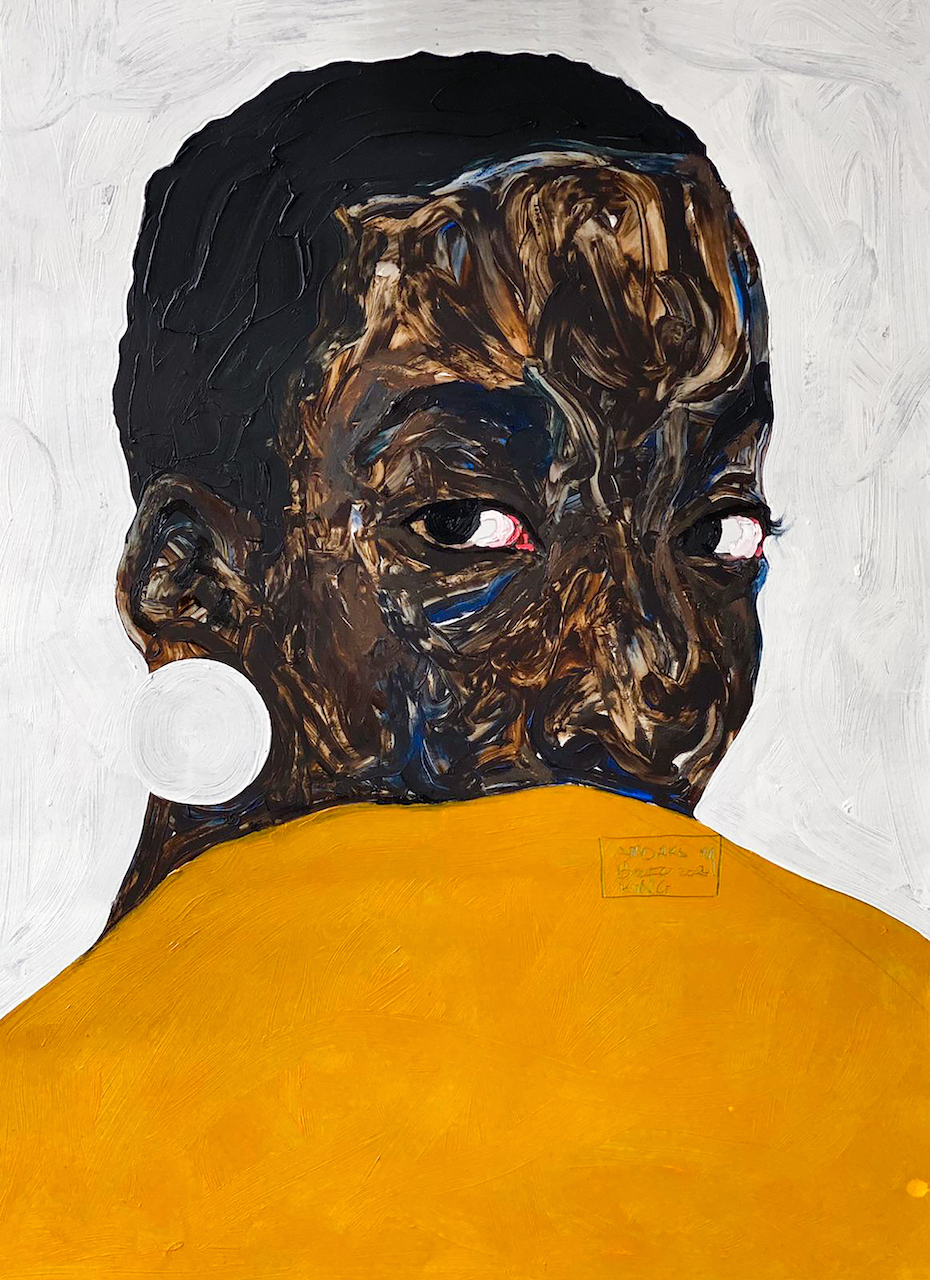 Amoako Boafo, 'Untitled,' 2020, Oil on canvas, 70cm x 50cm