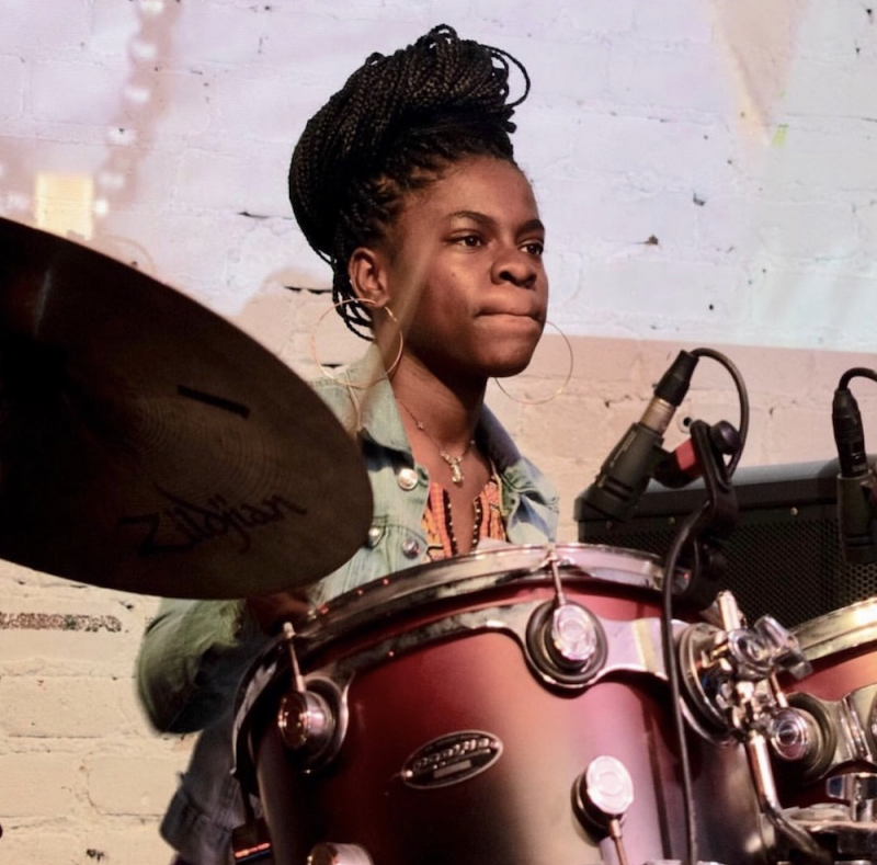 Jayla H. on the drums