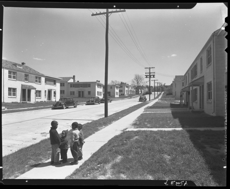 Children at Barry Farms Housing Development in April 1944. Gottscho-Schleisner, Inc., photographer. Photo courtesy of the Library of Congress.