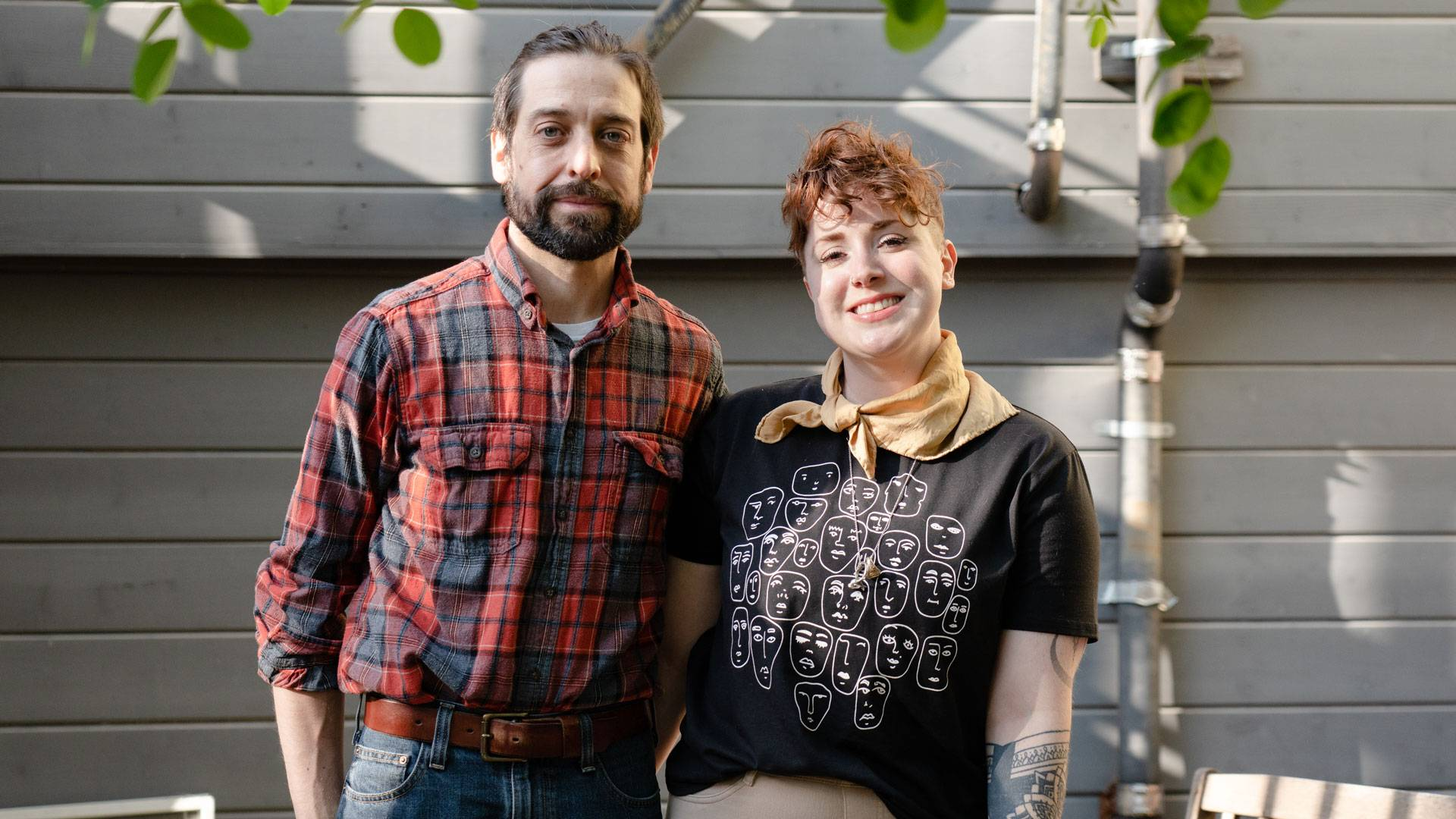 Ryan and Andrea Taylor started Ry's Knives to supplant lost income. Graham Holoch / KQED