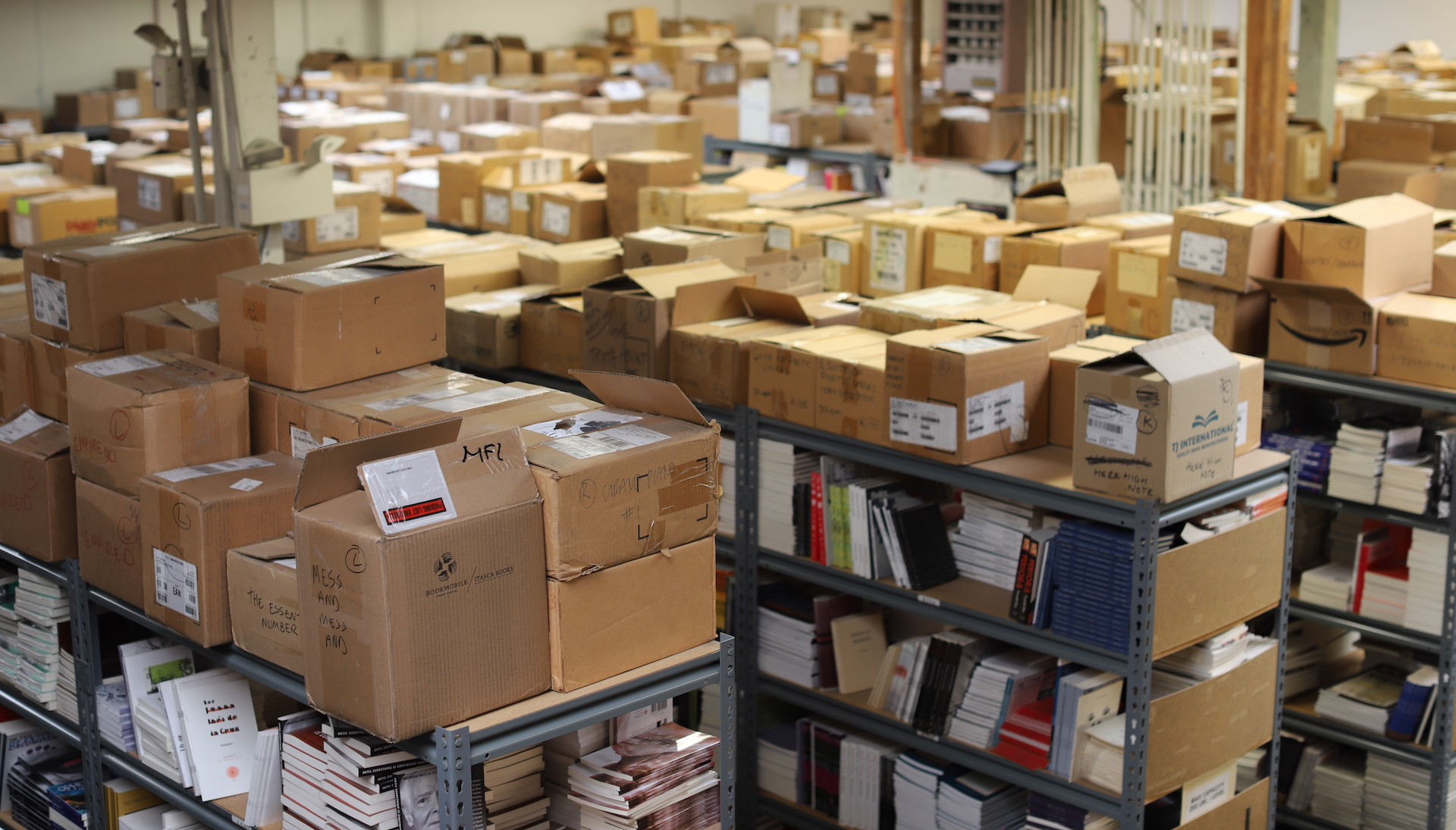 Small Press Distribution currently warehouses some 350,000 books.
