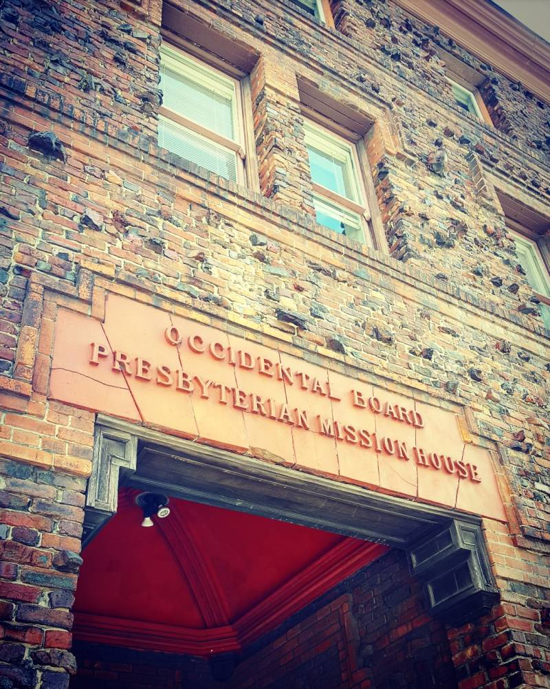 Today, 920 Sacramento Street is named Donaldina Cameron House, but the original Presbyterian Mission House sign remains in the stonework over the main entrance.