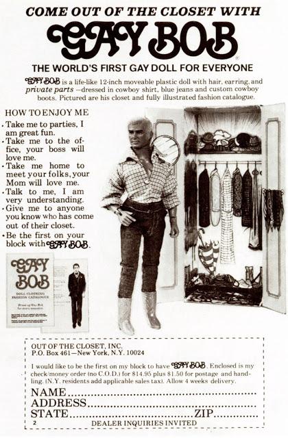An original ad for the Gay Bob doll.