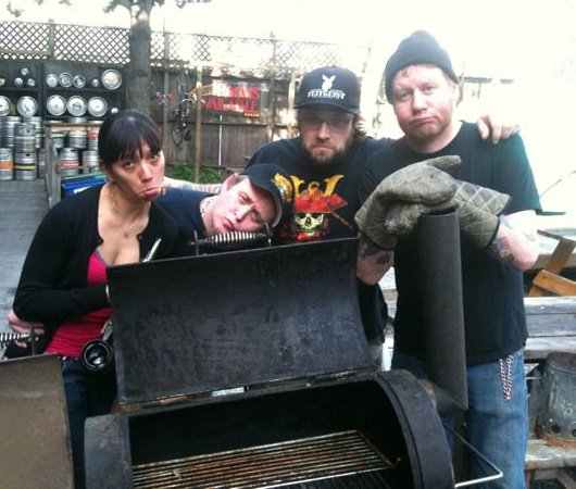 Zeitgeist staff bidding farewell to the beloved smoker, March 2010.
