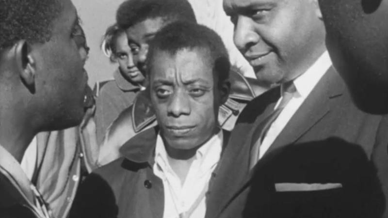 A still from 'Take This Hammer,' featuring James Baldwin.
