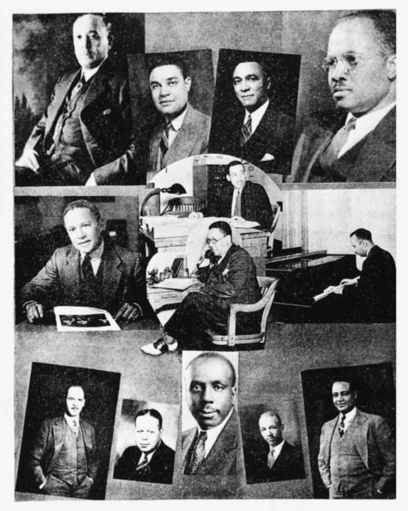 Dr. Leon A. Ransom (center) in the 1942 Howard University yearbook.