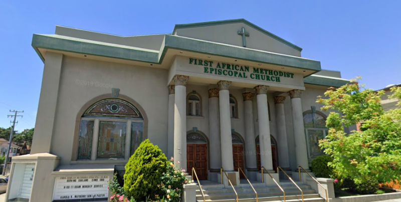 The First African Methodist Episcopal Church has been located at 3701 Telegraph Avenue since 1954.