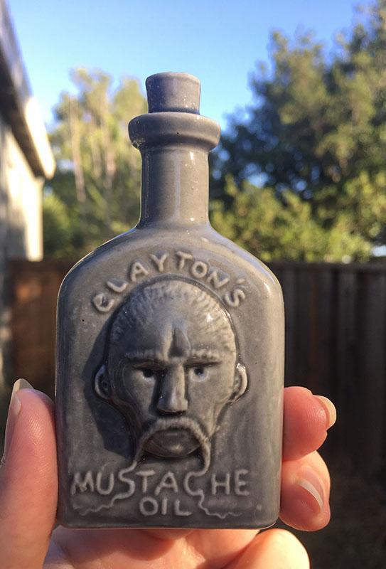 Clayton Bailey mustache ceramics