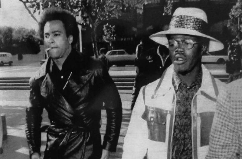 Huey P. Newton and Billy X, archivist for the Black Panther Party, together in the 1980s.