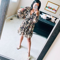"""Preeti Chaulk has worked from home for many years but says she's never owned more house dresses than now. """"I kind of always wanted to have that approach of like, I'm not wearing pajamas, but I'm still very comfortable—enter the house dress,"""" she says."""