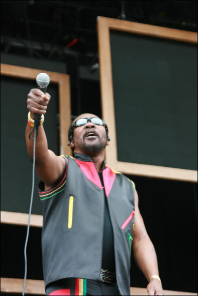 Toots Hibbert performs at the very first Outside Lands festival in San Francisco, in 2008.