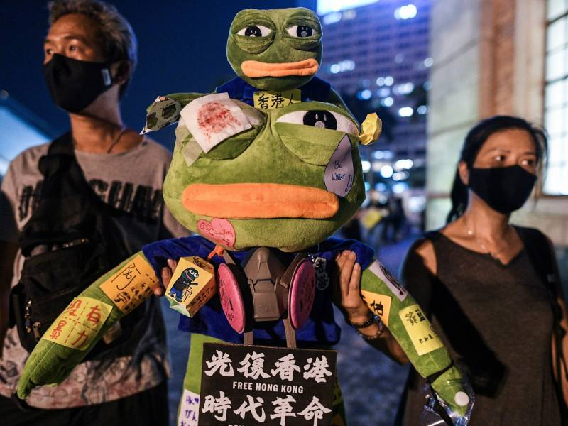 During the 2019 pro-democracy protests in Hong Kong, Pepe became a symbol of resistance.