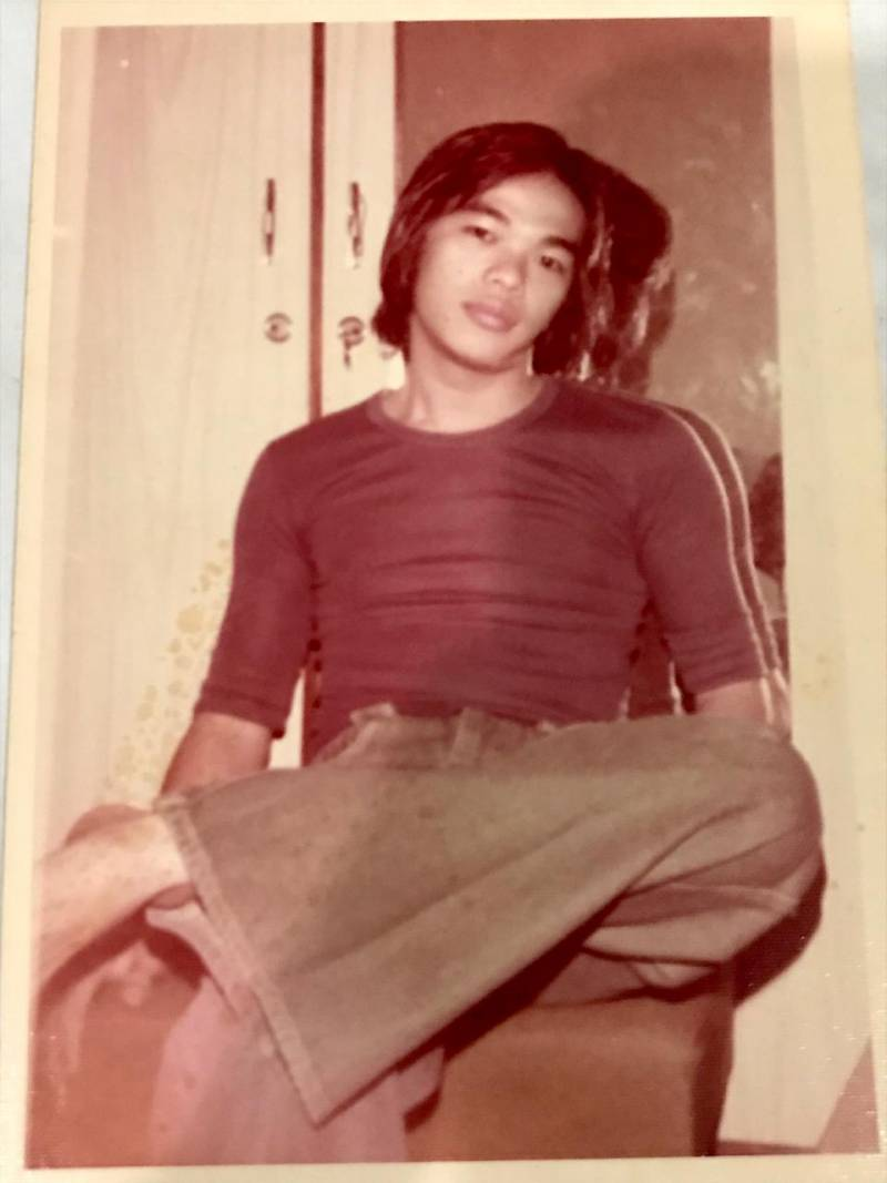 A portrait of young Wahyu Lo in Jakarta, in 1973.