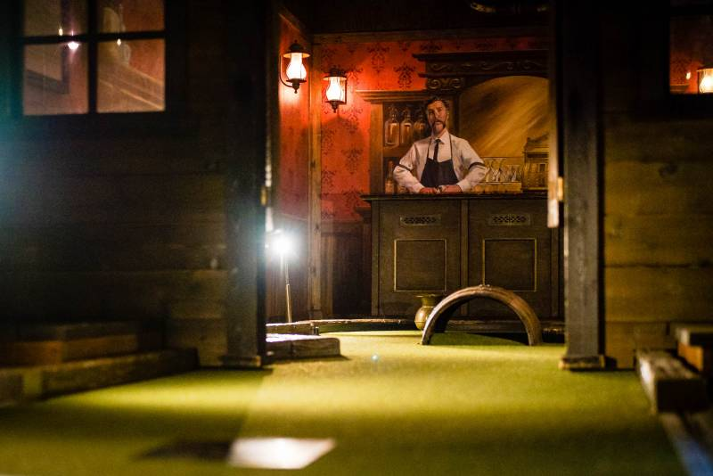 The Barbary Coast Saloon, Hole 2 at San Francisco's Stagecoach Greens.