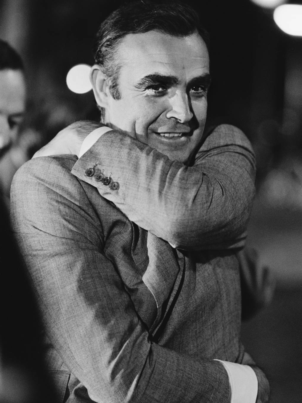 Sean Connery, pictured in Amsterdam during the 1971 filming of 'Diamonds Are Forever,' played James Bond in seven movies.