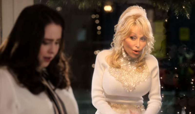 In Dolly Parton Christmas movies, you can get pregnant when she looks at you through a window.