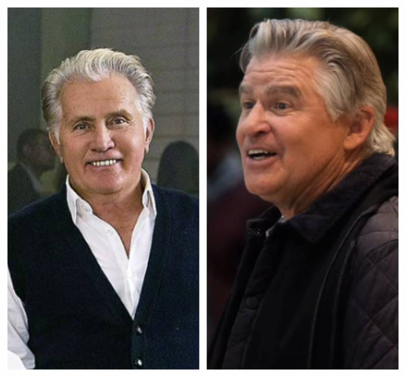 (L) Real Martin Sheen, in 'Grace and Frankie'; (R) Fake Martin Sheen in 'Christmas on the Square.'