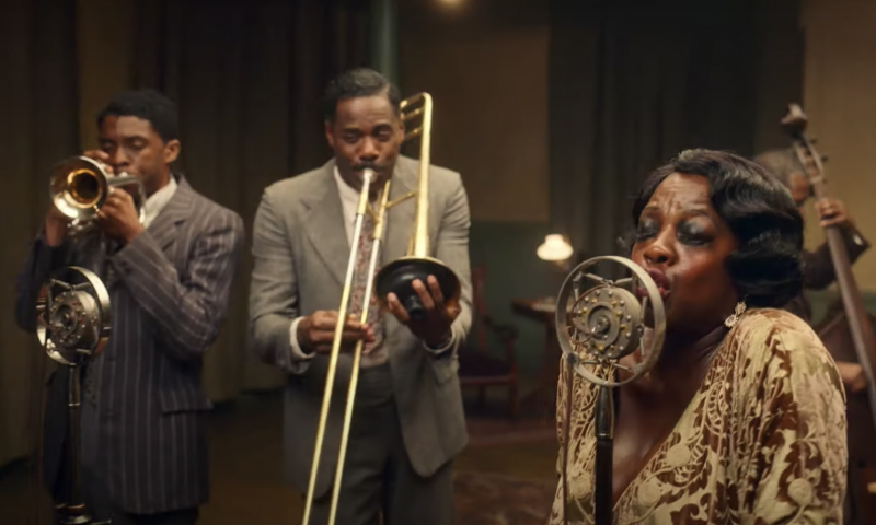 A musical moment from 'Ma Rainey's Black Bottom.'
