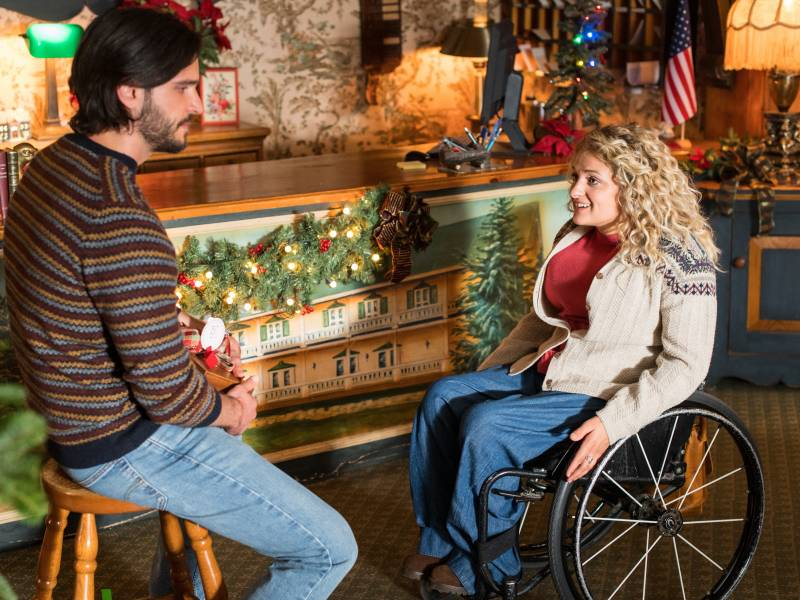 Ali Stroker and Daniel di Tomasso in Lifetime's 'Christmas Ever After.'
