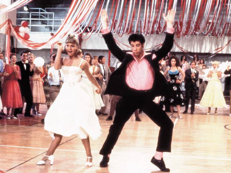 Olivia Newton-John as Sandy and John Travolta as Danny in the 1978 movie 'Grease,' which was added this year to the National Film Registry at the Library of Congress.