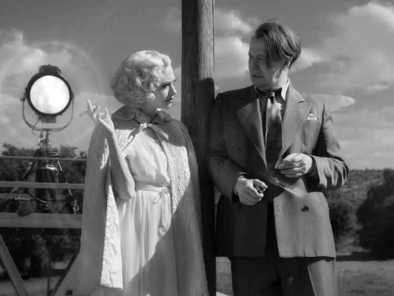 Amanda Seyfried as Marion Davies and Gary Oldman as Herman Mankiewicz in David Fincher's impressive 'Mank.'