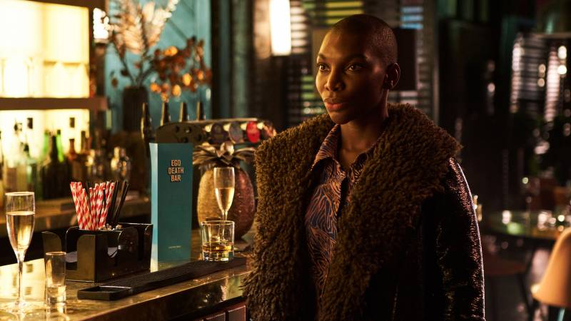 "Michaela Coel, starring in her HBO series 'I May Destroy You.' All four critics agreed it was ""one of the most exciting of 2020."""