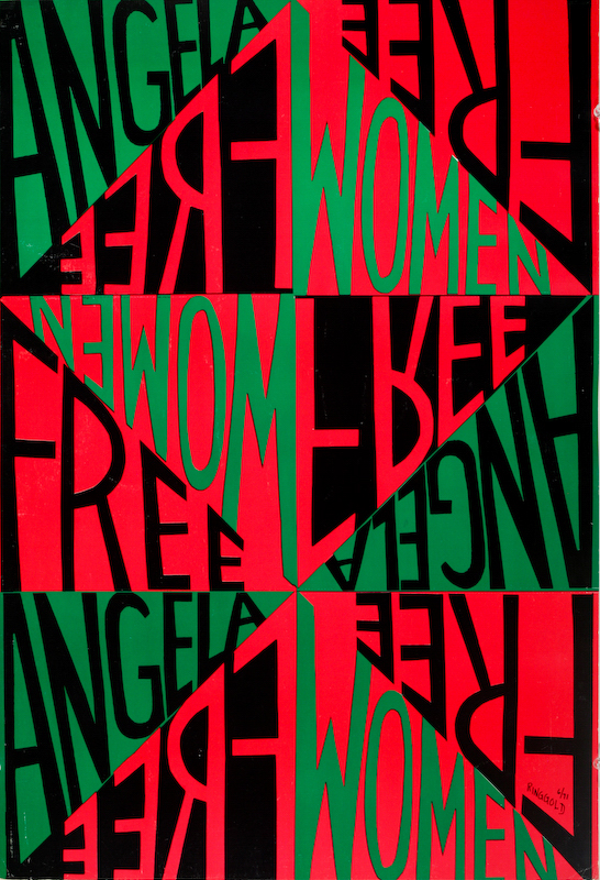 Free Angela, Free Women by Faith Ringgold (1971)