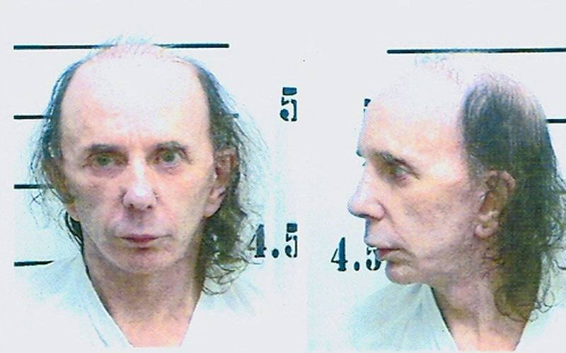 In this handout photo provided by the California Department of Corrections and Rehabilitation (CDCR), inmate Phillip Spector poses for his mugshot photo on June 5, 2009 at North Kern State Prison in Delano, California.