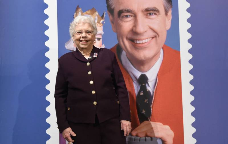 Joanne Rogers attends the U.S. Postal Service Dedication of the Mister Rogers Forever Stamp at WQED's Fred Rogers Studio on March 23, 2018 in Pittsburgh, Pennsylvania.