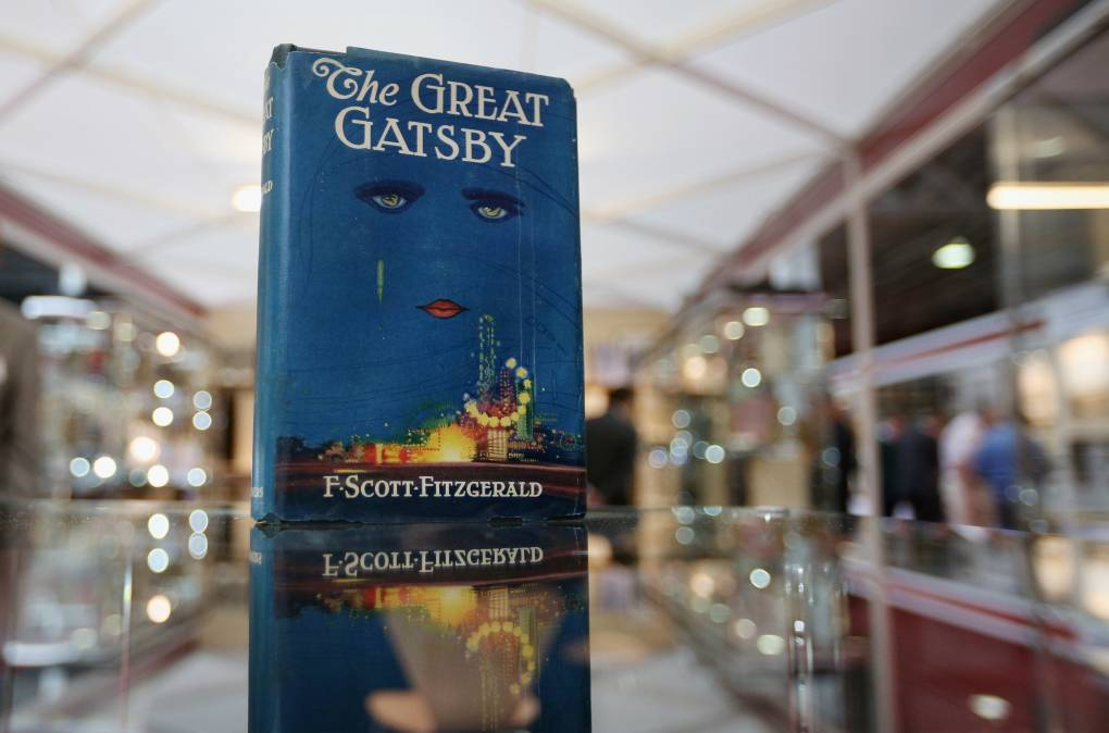 A first edition of 'The Great Gatsby' at the London International Antiquarian Book Fair in 2013.