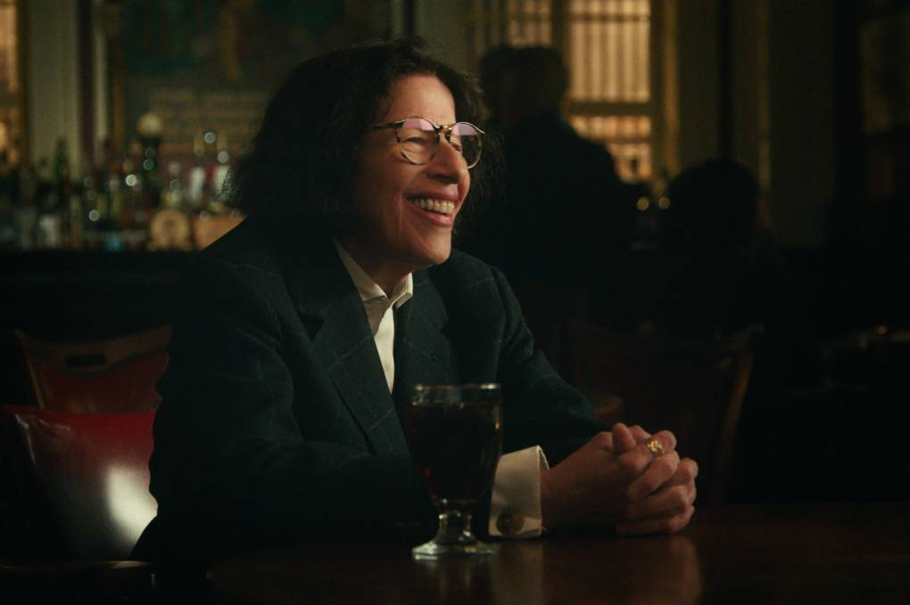 Fran Lebowitz smiles, mid-conversation, in an episode of the Netflix series, 'Pretend It's a City.'