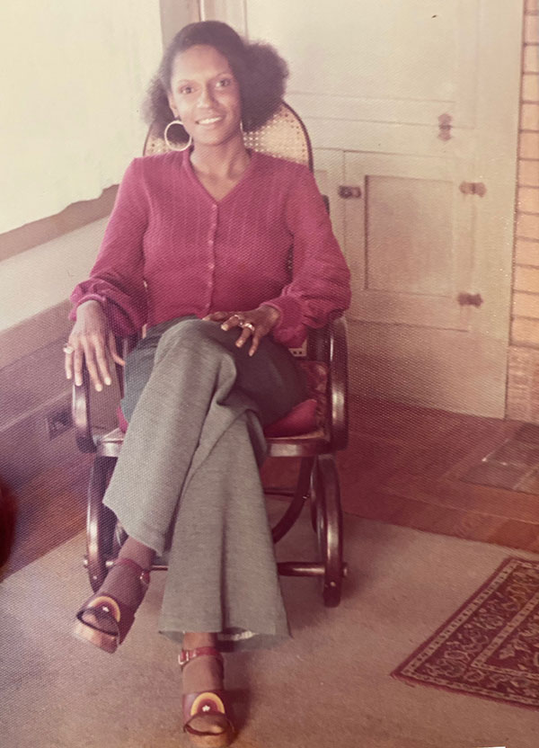 Cheryl Dawson in the 1970s.