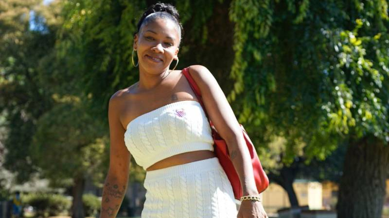 Erikka Ransom at Mosswood Park in Oakland. After a life in the inner city, she recently discovered a welcoming naturist community in the Santa Cruz mountains.