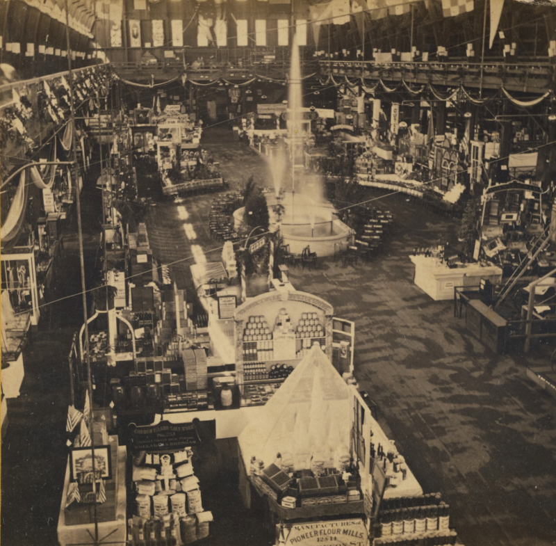 The 1867 Mechanics Institute Fair in San Francisco. Photograph by Carleton Watkins.