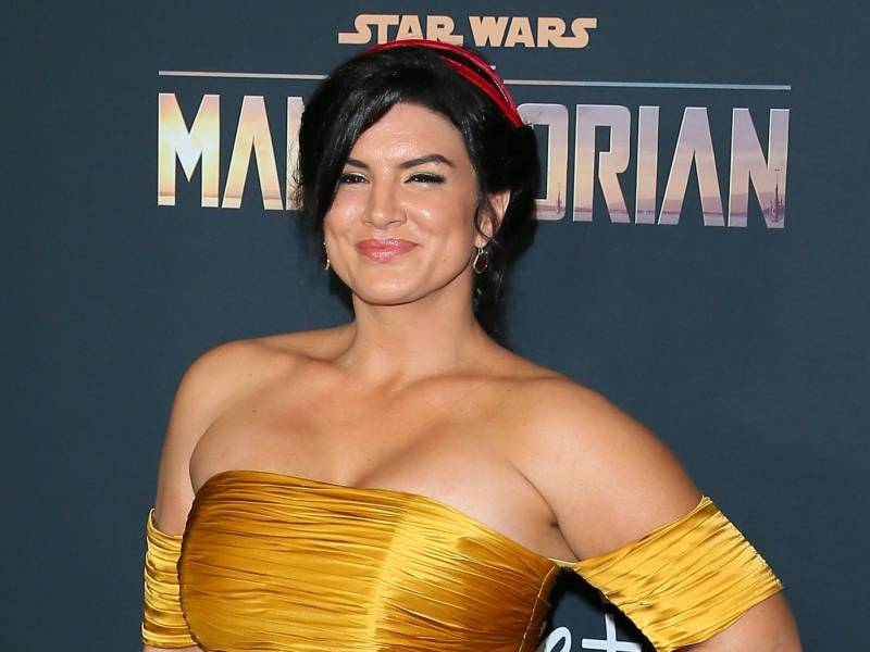 """Gina Carano attends the premiere of Disney+'s """"The Mandalorian."""""""