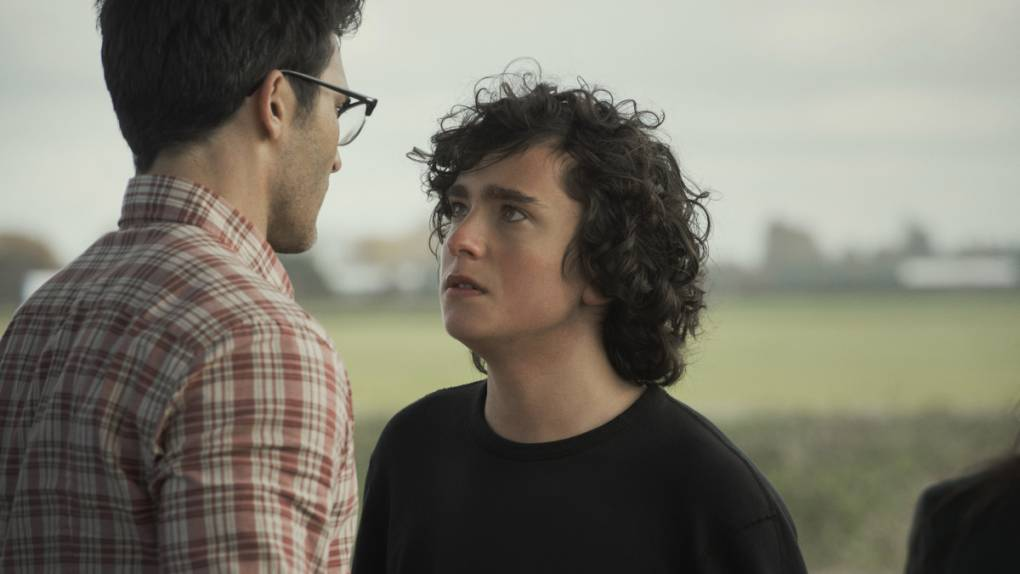 Clark Kent has a tense moment with his son Jordan in the CW's new 'Superman & Lois.'