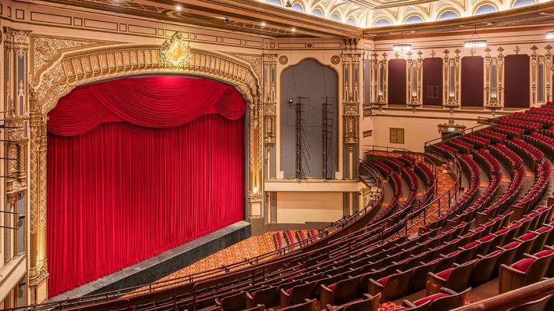 The interior of the Golden Gate Theatre in San Francsico.