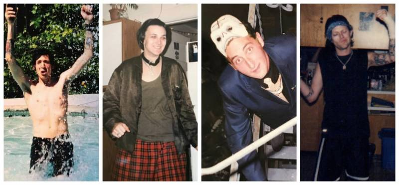 Elizabeth Whitney adds 'RIP' whenever captioning pictures of punk house regulars who are no longer alive. Like (L-R): Heiko Schrepel, Shelly Skelley, Freud Reia and 'Dead Boy'.