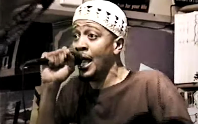 Chali 2na performing at the Good Life Cafe in a still from 'This is the Life,' directed by Ava DuVernay.