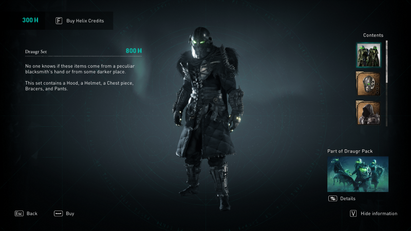 One of the suits of armor available in 'Assassin's Creed: Valhalla'—if you're willing to pay real money.