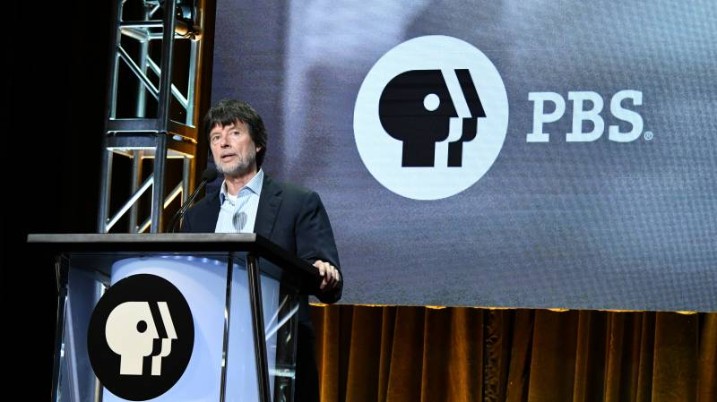Ken Burns speaks during the PBS segment of the Summer 2019 Television Critics Association Press Tour.