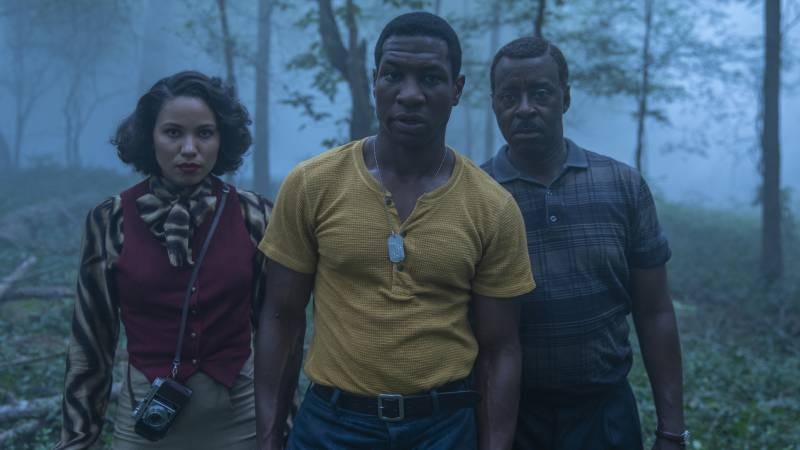 Jurnee Smollett, Jonathan Majors and Courtney B. Vance starring in HBO's 'Lovecraft Country.'